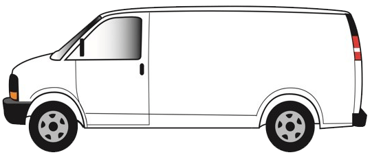 white van transparent background